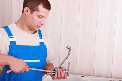 Jack is one of our Del Mar plumbing techs and he is installing a new faucet